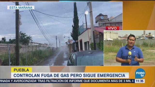 Controlan fuga de gas en ducto de Pemex, pero sigue emergencia en Puebla