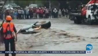 Corriente De Agua Arrastra Vehículos Personas Guanajuato