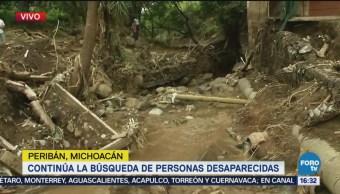 Inician Labores Limpieza Peribán Michoacán Inundaciones