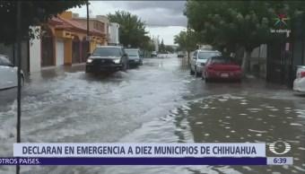 Declaran emergencia en 10 de 67 municipios de Chihuahua