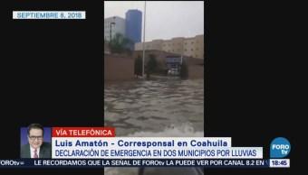 Declaran Emergencia Lluvias Torreón, Coahuila Precipitaciones
