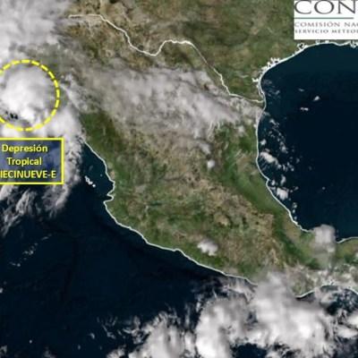 Cierran puertos de Sonora y Sinaloa por depresión tropical '19-E'
