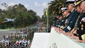 Fuerzas Armadas ensayan para desfile del 16 de septiembre