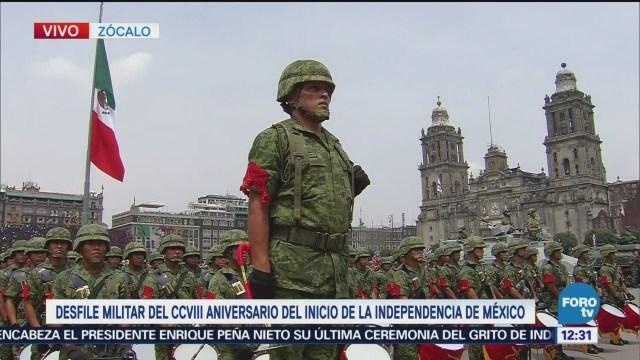 Desfile Militar Aniversario Independencia México Zócalo