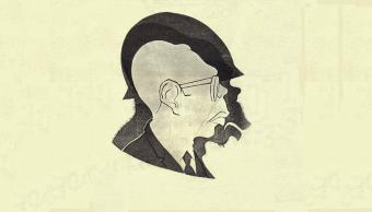 Dibujo de Eduardo del Rio sobre Díaz Ordaz