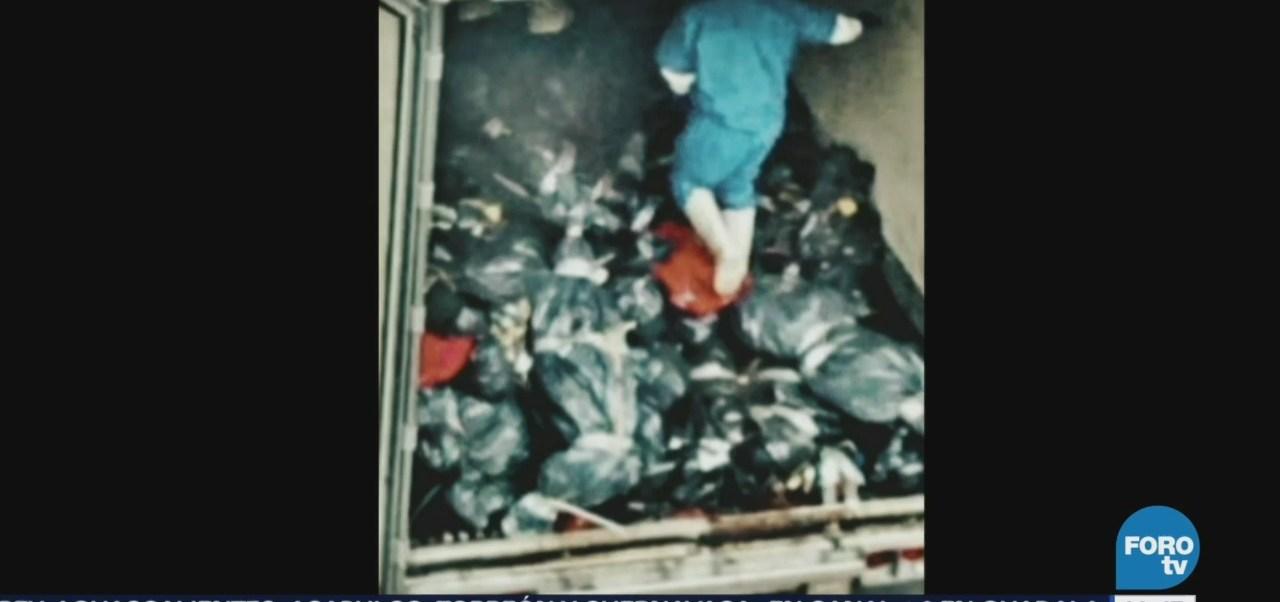 Difunden fotos de cadáveres apilados en tráileres de Jalisco