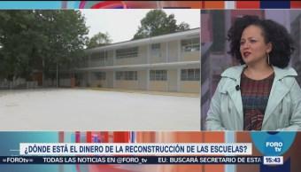 El dinero de la reconstrucción de las escuelas afectadas
