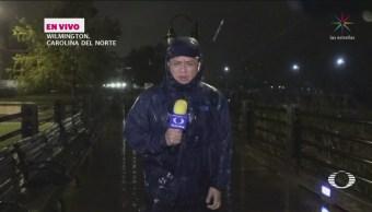 Huracán Florence Impactará Wilmington Carolina Del Norte