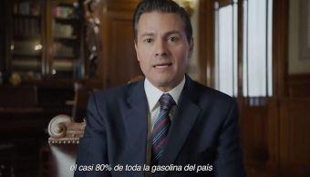 Peña Nieto asume responsabilidad por liberar precio de gasolina