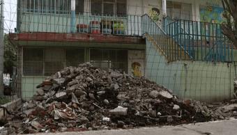 Escuelas afectadas por sismo 19-S aún son escombros