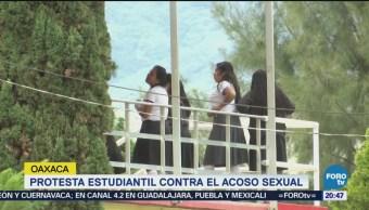 Estudiantes Oaxaca Protestan Faldas Acoso Sexual