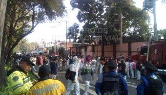 Estudiantes de Cetis 76 bloquean La Viga y Canal de Apatlaco