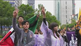 Estudiantes Siguen Ruta Marcha Del Silencio 68 CDMX