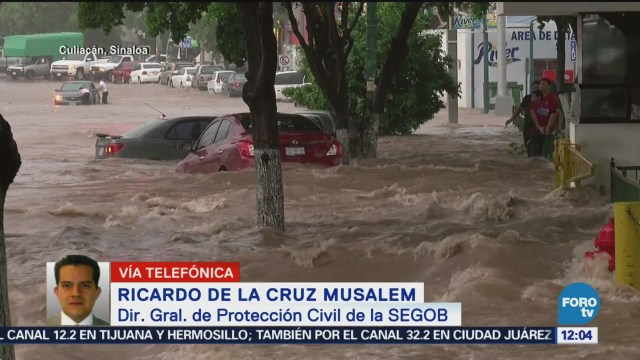 Evalúan daños por lluvias en Sinaloa, informa Ricardo