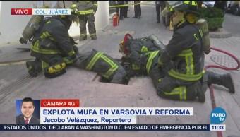 Explota mufa en Varsovia y Reforma, CDMX