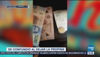 Extra, Extra: Dejan propina de 500 pesos en lugar de 20