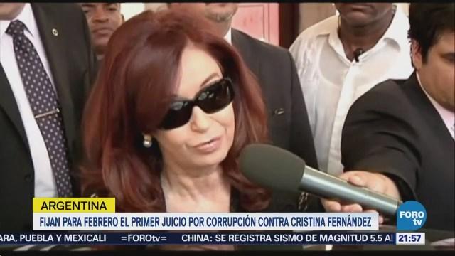 Fijan fecha de juicio de Cristina Fernández