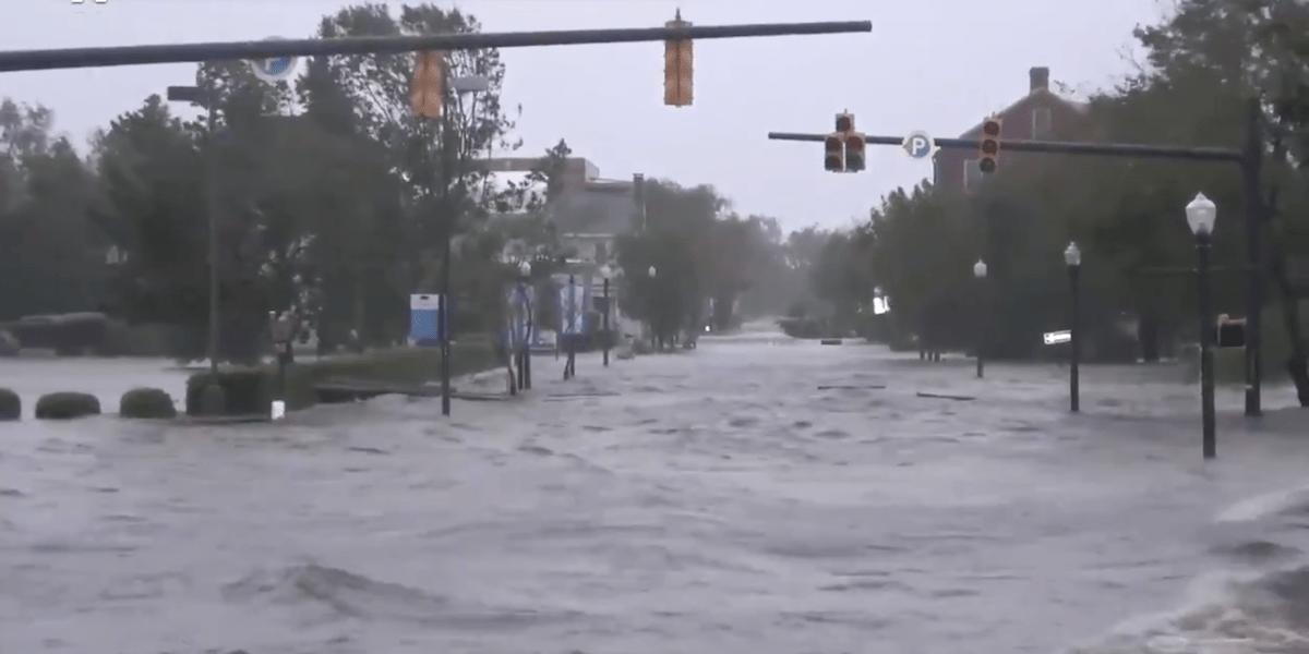 Huracán Florence Video Carolina Norte Impacto Estados Unidos