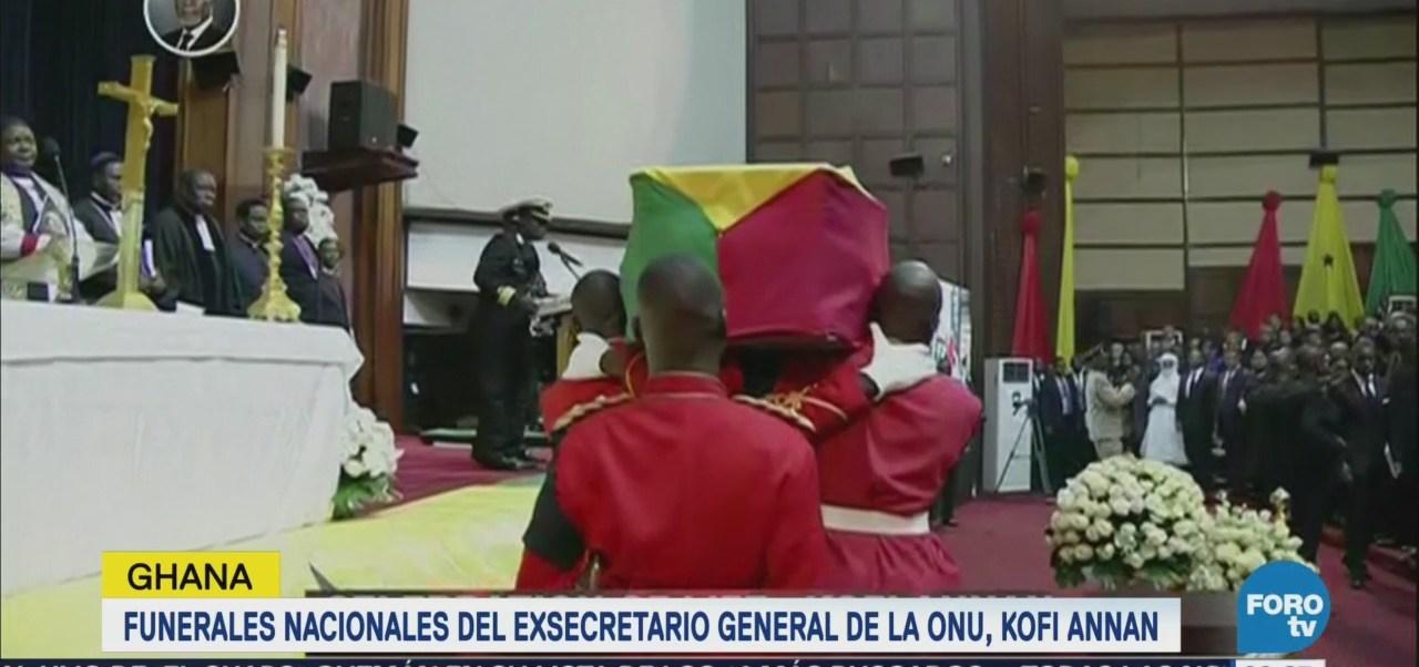 Funerales nacionales del exsecretario general de la ONU en Ghana