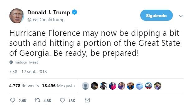 Estados Unidos: 575 vuelos son cancelados por Florence