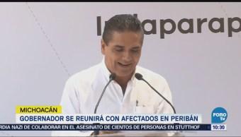 Gobernador de Michoacán se reunirá con habitantes en Peribán