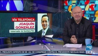 Gobernador de Quintana Roo respalda tren maya de AMLO