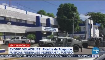 Gobierno Acapulco Apoyará Fuerzas Federales Seguridad Puerto