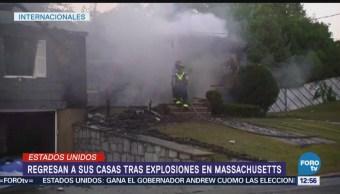 Habitantes de Massachusetts regresan casas tras explosiones