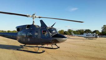 Helicópteros de la PGR transportan víveres a damnificados en Sinaloa