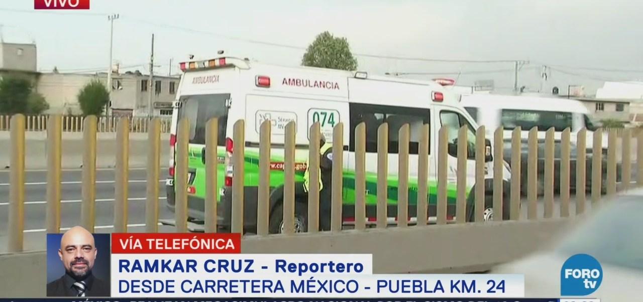 Hombre fallece al ser atropellado en autopista México Puebla