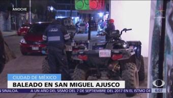 Hombre muere baleado en San Miguel Ajusco, CDMX