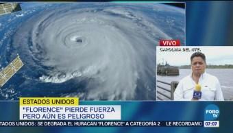 Huracán Florence pierde fuerza, pero aún es peligroso