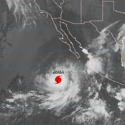 'Rosa' se convierte en huracán categoría 2