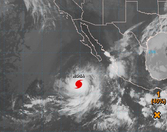 Rosa se convierte en huracán categoría 2