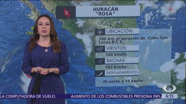 Huracán Rosa favorece lluvias en gran parte de México