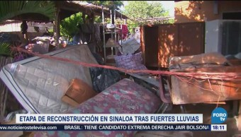 Inicia Etapa Reconstrucción Sinaloa Inundaciones Lluvias
