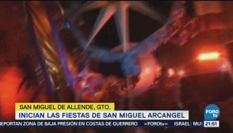 Inician Fiestas San Miguel Arcangel Guanajuato
