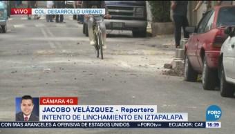 Intento de linchamiento en Iztapalapa