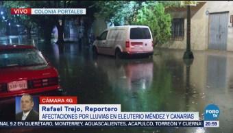 Inundación en la colonia Portales