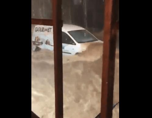 Lluvias del huracán 'Rosa' afectan Los Cabos, BCS