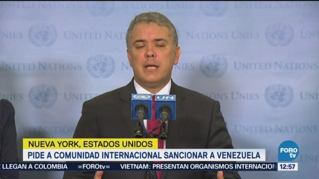 Iván Duque pide sanciones al régimen de Maduro