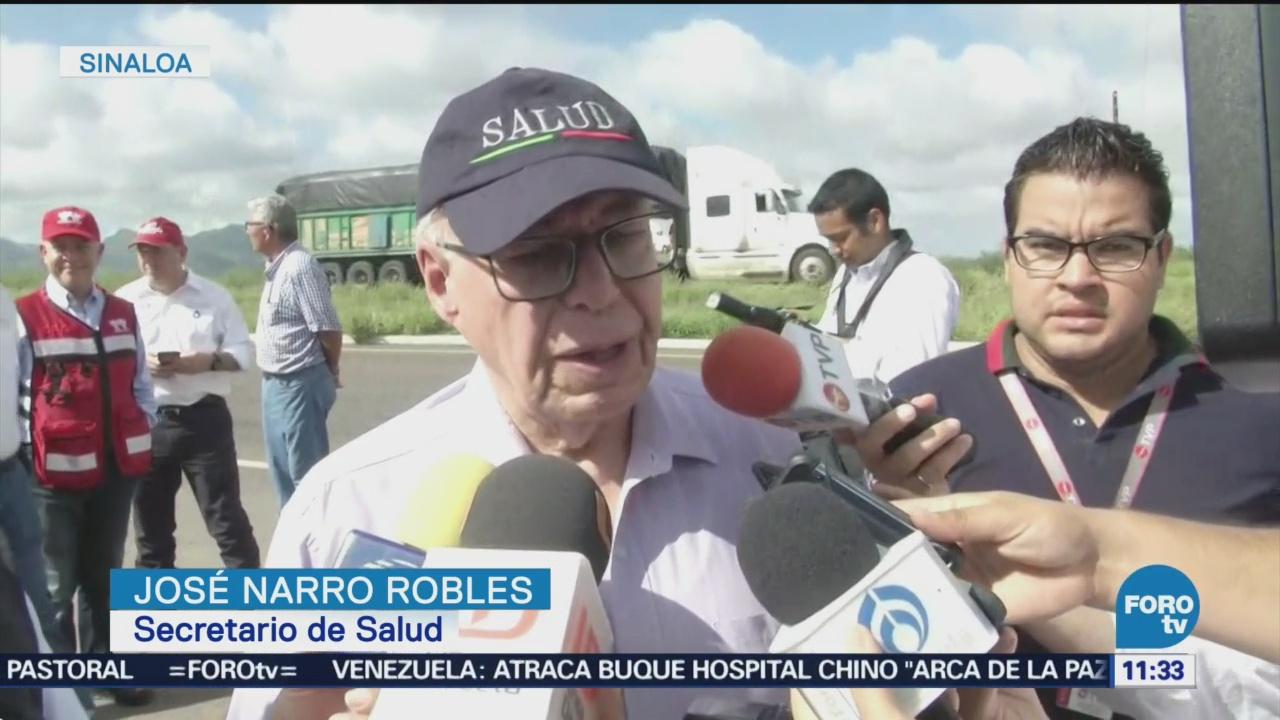 José Narro Recorre Zonas Afectadas Lluvias Sinaloa