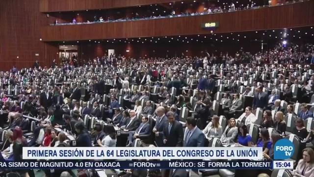 La crónica de la primera sesión de la 64 Legislatura