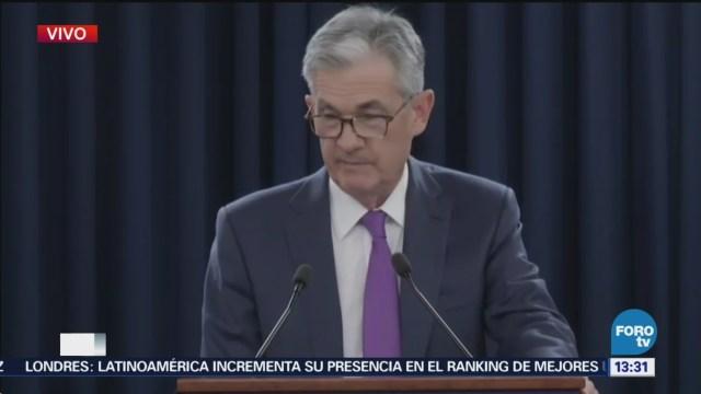 La Fed aumenta tasas de interés en 25 puntos base