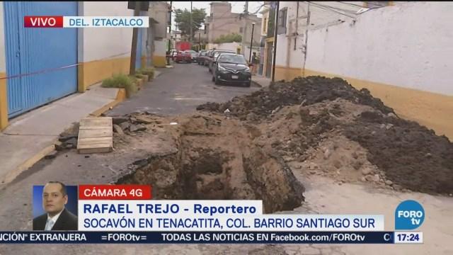 Socavón Tenacatita, Bario Santiago Iztacalco