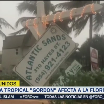 Tormenta tropical Gordon afecta a la Florida