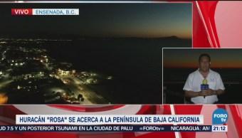 Huracán Rosa Acerca Península Baja California