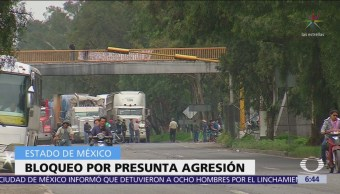 Levantan bloqueo en carretera Lechería-Texcoco, en San Salvador Atenco