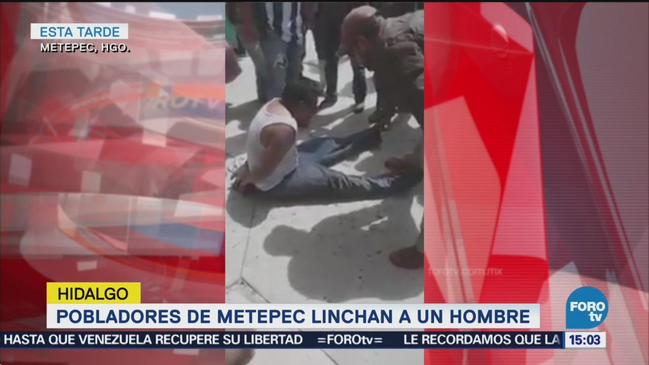 Linchan Hombre Metepec Hidalgo Pobladores Fuego