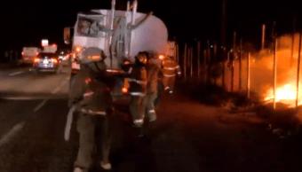 sofocan incendio tiradero llantas jalisco bomberos